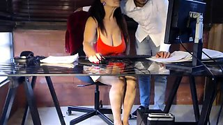 Bodacious secretary with glasses loves to take it doggystyle