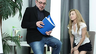 Innocent schoolgirl is seduced and reamed by senior i14afI
