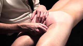 Bishop punishes twink and spanks his ass cheeks hard
