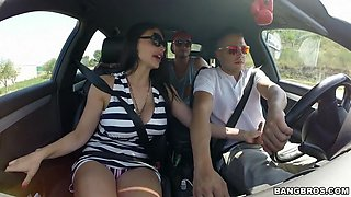 slutty hungarian babe aletta ocean seducing the driver