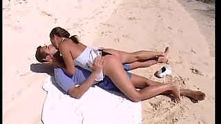 Horny Couple Having Sex At The Beach