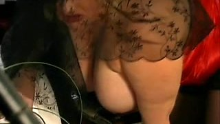 German BBW in a hot threesome with two big dicks