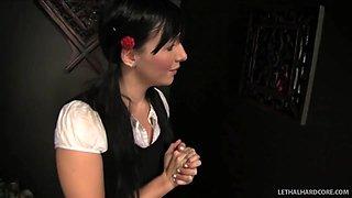 Schoolgirl Ashli Orion repents and sucks off preist - LethalHardcore