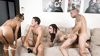 Playing ball leads to hot foursome