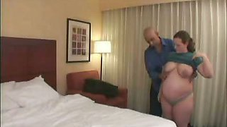 Pregnant Chick Begs for Cock