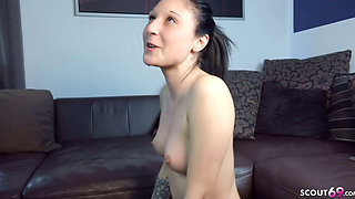GERMAN SCOUT CUTE GIRL TRICKED TO ANAL DEFLORATION SEX AT FIRST DATE