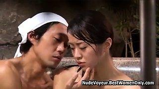 Perfect Body Asian Japanese Woman Fucked Public Bath