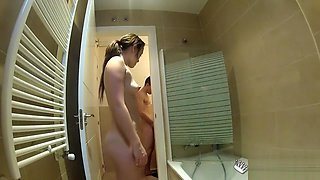 Homemade Webcam Young Couple in Bathroom
