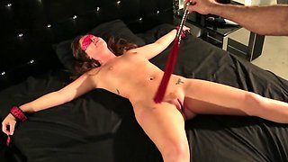 This wife loves BDSM games and being tied up by her husband