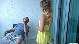 Dad daughter blow job