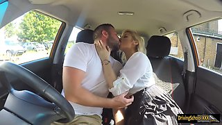 posh examiner katy jayne gets her pussy screwed in the car
