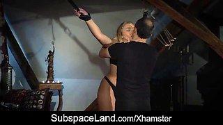 extreme pussy punishment for bondage blonde with big tits