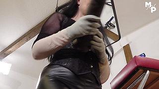 Teaster - Giant Dildo play with Mistress Luciana