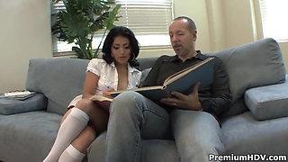 Teachers pet Andrea Kelly fucked