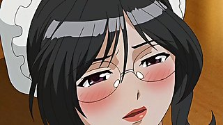 Animated hentai cartoon with horny maids being naughty and fucked