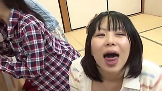 Best Japanese whore Mikan Kururugi, Riri Kouda in Incredible Glory Hole JAV scene