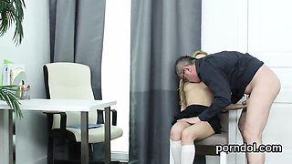 Innocent schoolgirl was seduced and fucked by her elder teac