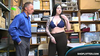 Guilty tattooed black head with huge saggy boobs Amilia Onyx is fucked by cop