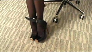 asian secretary bound and gagged
