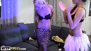 Hot party with food fetish and huge dildos
