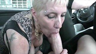 Trashy Cock-Sucking Granny