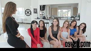 Reena Sky,Adria Rae, Pepper XO, Kingsley Eden, Alorra Ashlyn, Karter Foxx, Peyton Robbie In Lesbian Orgy