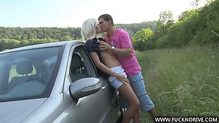 rough sex outdoors with a smoking hot blonde