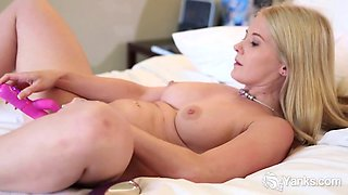 Busty Summer Toys Her Pussy