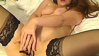 British blond angel fingering on web camera