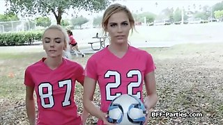 Foursome sex party with soccer chicks