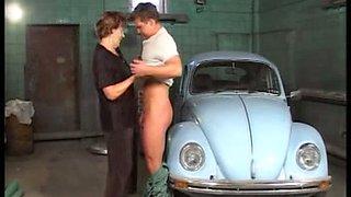My Volkswagen Beetle attracts old mature ladies