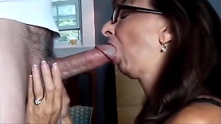 Granny Swallows After An Excellent Blowjob