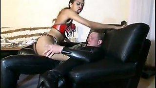 Horny master banging a slave girl