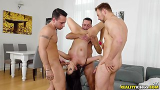 Rebecca Volpetti cannot resist being plowed by three lovers