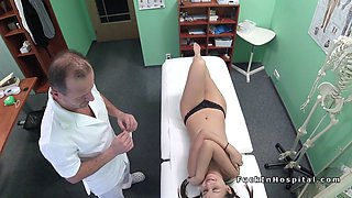 Doctor bangs and cums on student