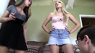 Hot sister foot and cumshot