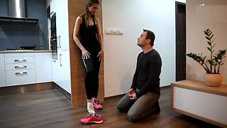 Gym socks and feet slave