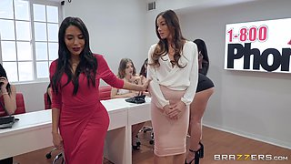 sexy Clea Gaultier enjoys rough fuck with her boss in the office