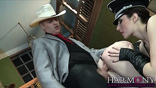 Paige Turnah leads her sex slave Samantha Bentley