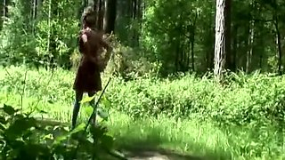 LADY SONIA Public stripping  peeing outdoors