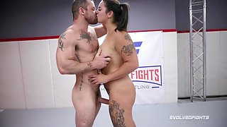 Sergeant Miles, Miss Demeanor And Sgt Miles - Naked Sex Wrestling And Fighting As Gags On Dick Of Winner Fucks Loser