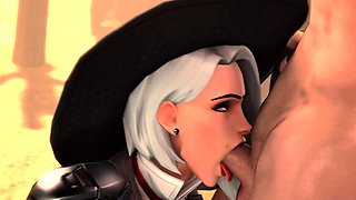 3D Sweet Ashe with Huge Perfect Boobs Fucks Collection