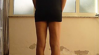 jessykyna black dress whipping - teen transvestite
