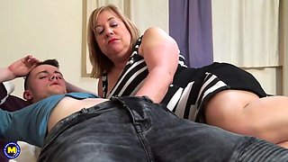 Taboo home sex with mature auntie trisha and boy