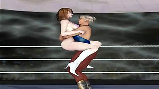 3d animated big tits sex fight arena
