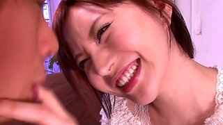 Incredible Japanese slut Yuria Satomi in Amazing fake tits, stockings JAV clip