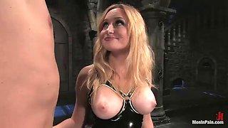 evil mistress fucks her servant with a strapon