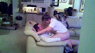 Lustful European babe bounces on a hard dick on hidden cam
