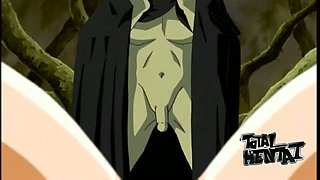 Some of sexy bosomy hentai babes deserve hard banging in the forest