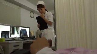 Incredible Japanese chick Hibiki Otsuki, Ann Yabuki, Erika Kurisu in Crazy Nurse, Handjob JAV clip